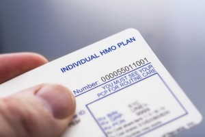 A Medical/health insurance ID card.