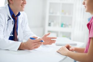 Doctor is happy and he discuss about patient results with nurse